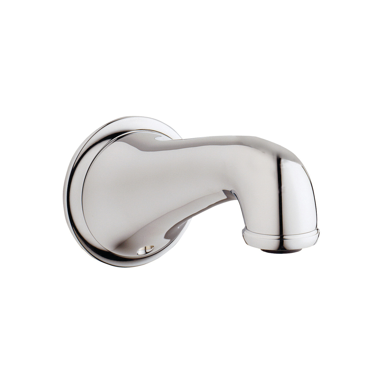 GROHE 13615000 Seabury Wall Mounted Tub Spout, 3/4 in Threaded Connection, 6 in Spout Reach, StarLight® Chrome, Import
