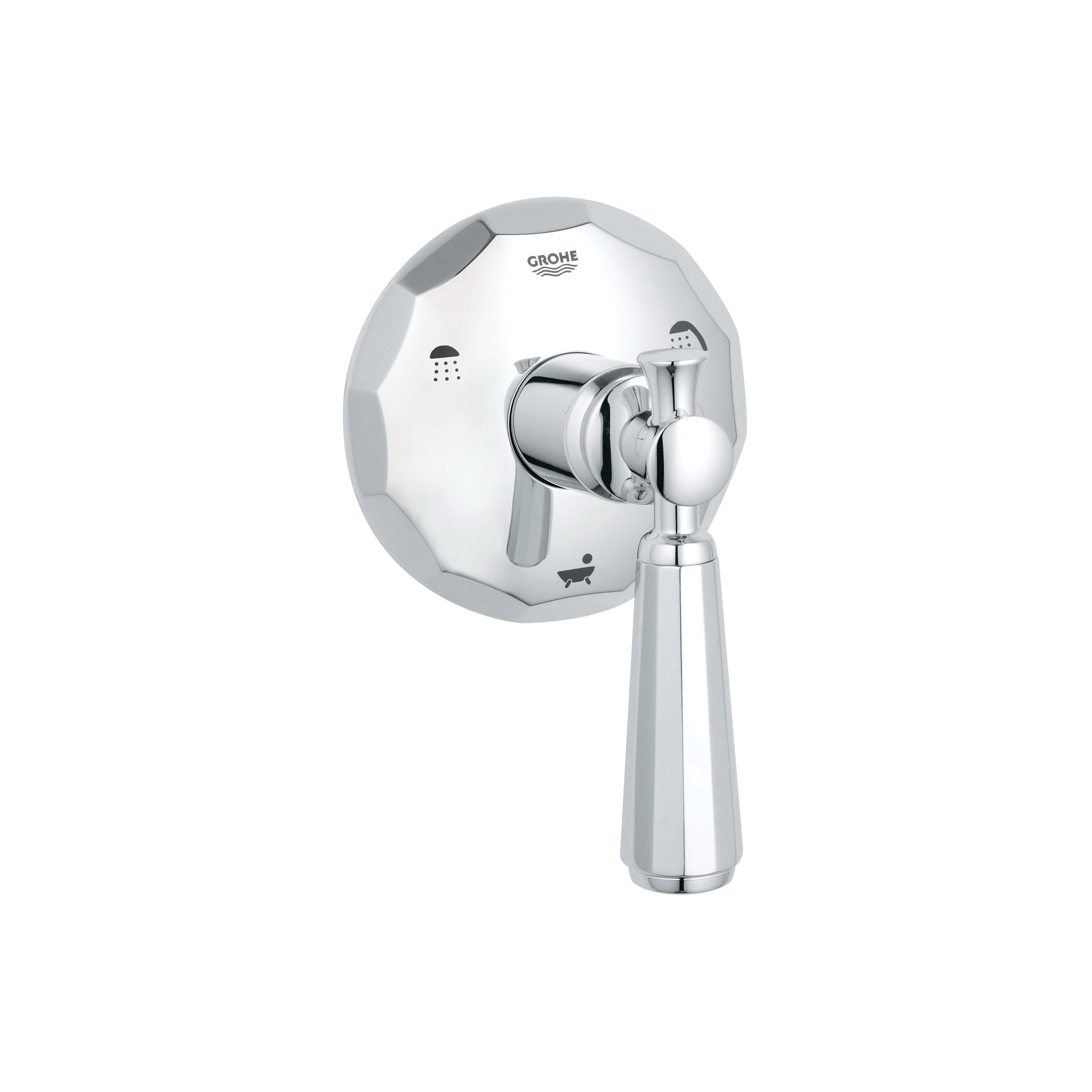GROHE 19272000 Kensington® 3-Way Diverter, StarLight® Chrome Plated