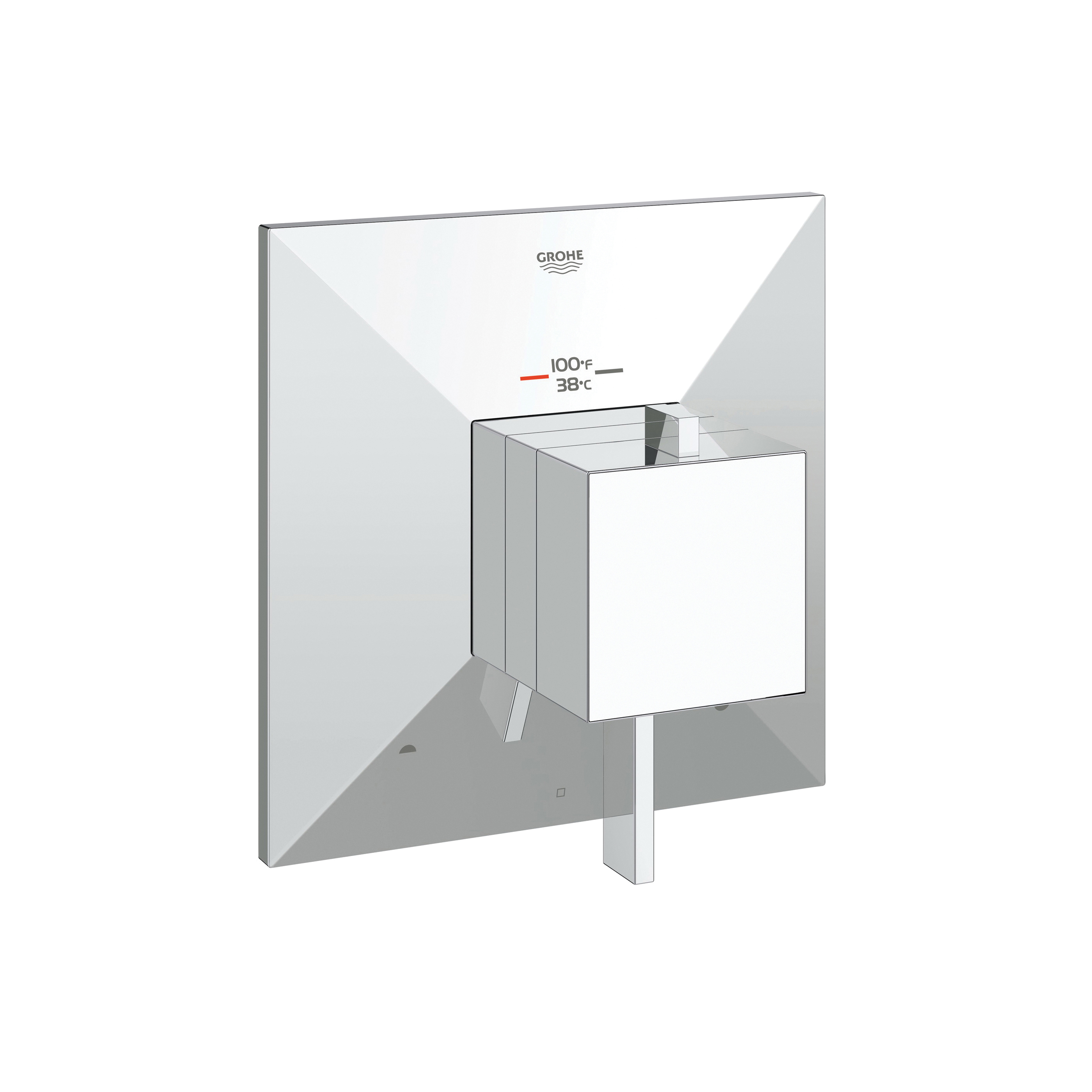 GROHE 19794000 Allure Brilliant 2-Function Trim, 3.2 to 6.3 gpm Shower, Hand Shower Yes/No: No, StarLight® Chrome Plated