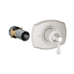 GROHE 19839EN0 Grohtherm 2000 Authentic Custom Shower Thermostatic Trim, 14 gpm Shower, Hand Shower Yes/No: No, Brushed Nickel