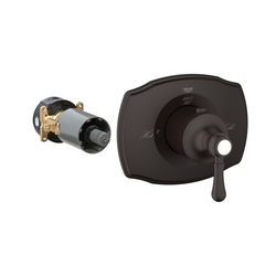 GROHE 19839ZB0 Grohtherm 2000 Authentic Custom Shower Thermostatic Trim, 14 gpm Shower, Hand Shower Yes/No: No, Oil Rubbed Bronze
