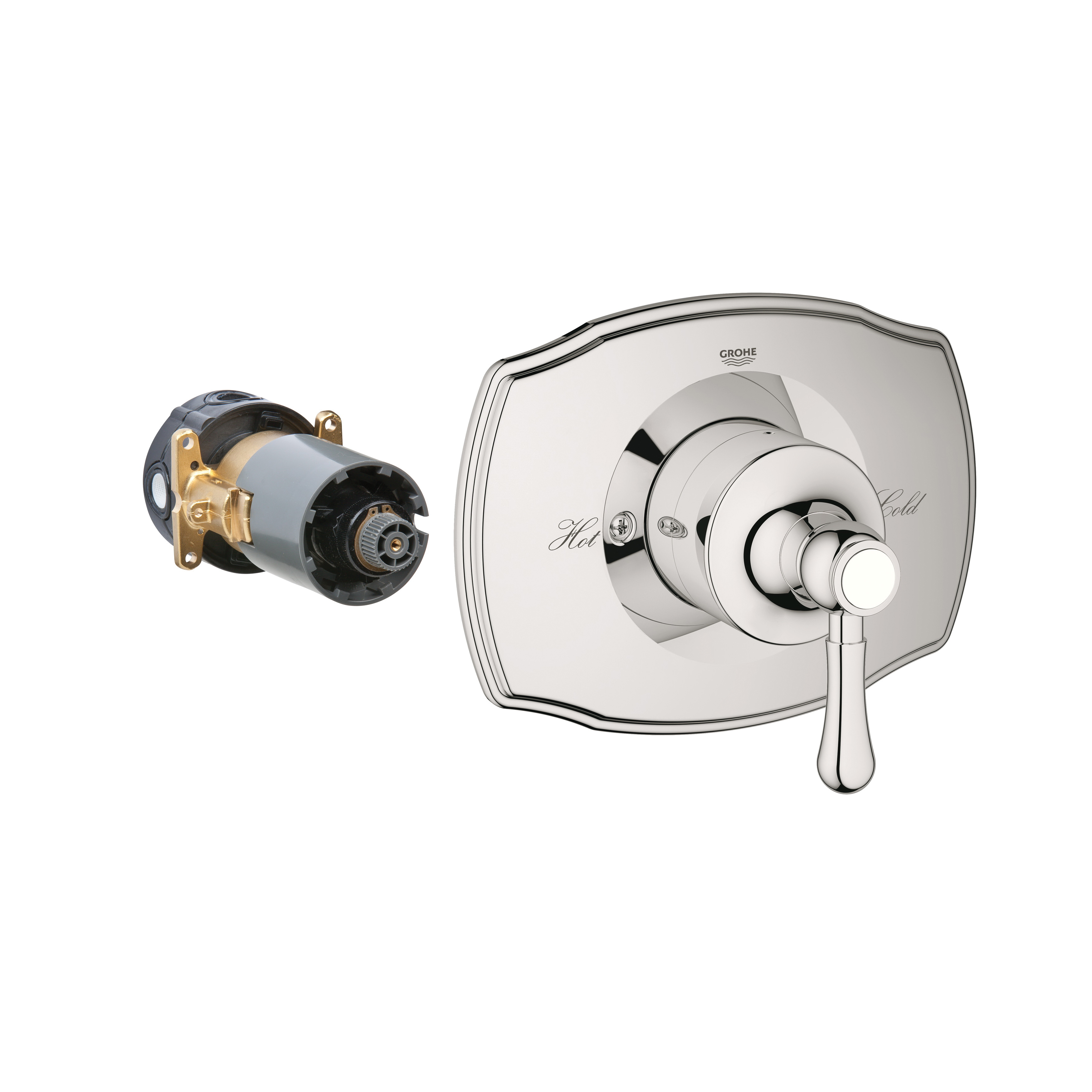 GROHE 19843BE0 GrohFlex™ Valve Trim, 6.6 gpm Shower, Polished Nickel