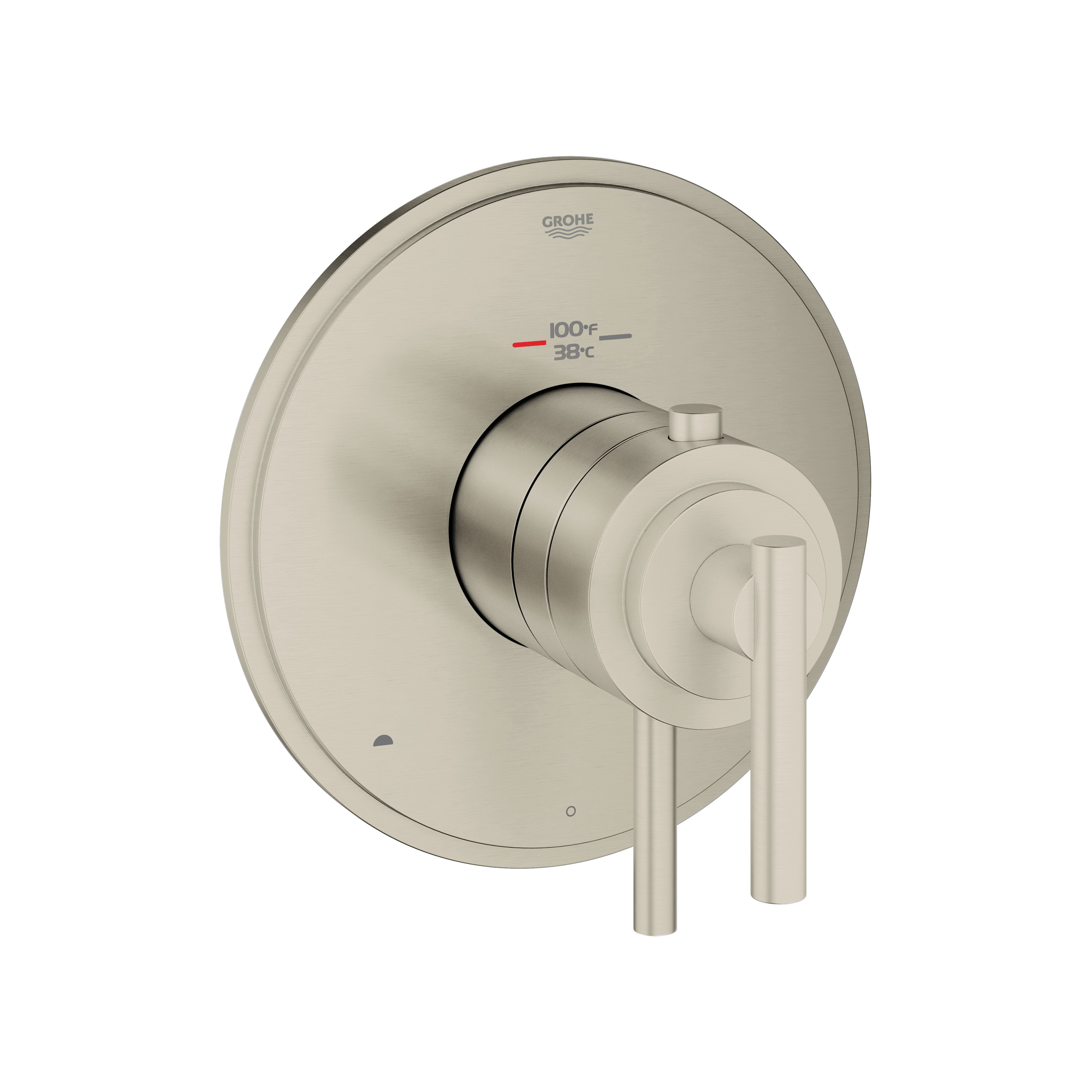 GROHE 19849EN0 Atrio® 2-Function Trim, 3.2 to 6.3 gpm Shower, Hand Shower Yes/No: No, Brushed Nickel
