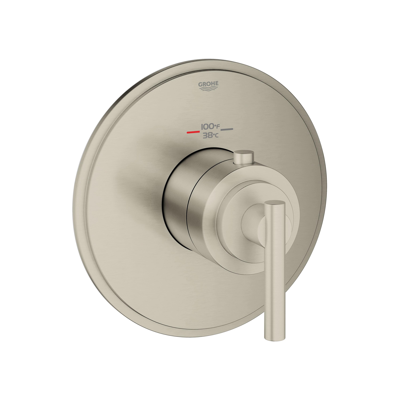 GROHE 19865EN0 Atrio® Custom Shower Thermostatic Trim, 14 gpm Shower, Hand Shower Yes/No: No, Brushed Nickel