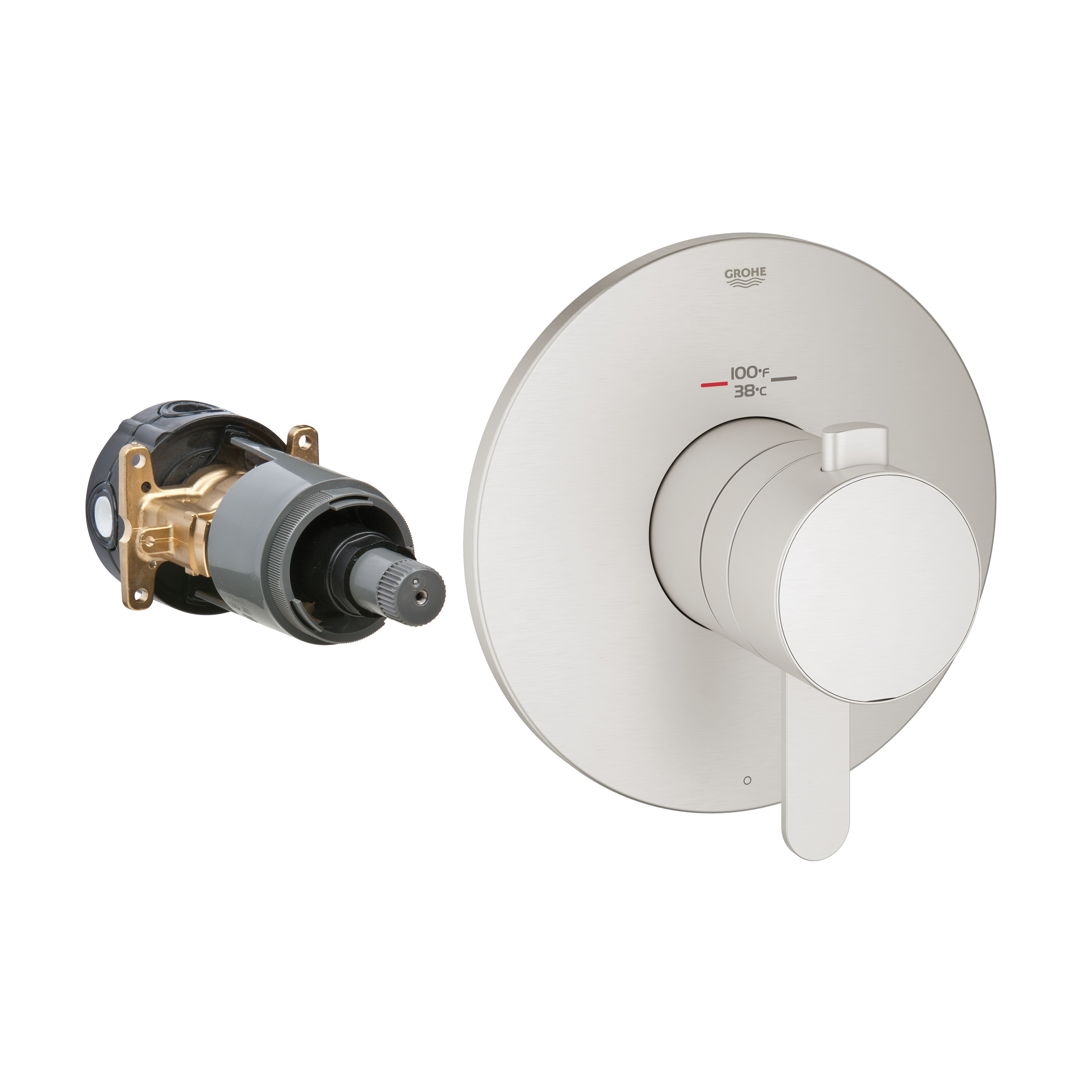 GROHE 19869EN0 Europlus® 1-Function Trim, 6.3 gpm Shower, Hand Shower Yes/No: No, Brushed Nickel