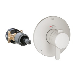GROHE 19878EN0 Europlus® 2-Function Trim, 3.2 to 6.3 gpm Shower, Hand Shower Yes/No: No, StarLight® Brushed Nickel