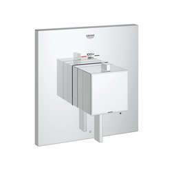 GROHE 19926000 Eurocube® 2-Function Trim, 6.3 gpm Shower, StarLight® Chrome Plated
