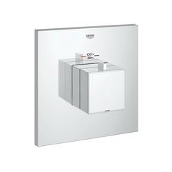 GROHE 19928000 Eurocube® Custom Shower Thermostatic Trim, 14 gpm Shower, Chrome Plated