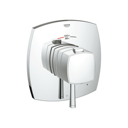 GROHE 19935000 Grandera™ 1-Function Trim, 6.3 gpm Shower, StarLight® Chrome Plated