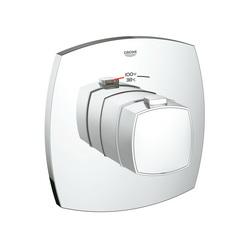 GROHE 19940000 Grandera™ Custom Shower Thermostatic Trim, 14 gpm Shower, Chrome Plated