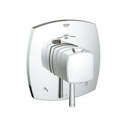 GROHE 19947000 Grandera™ 2-Function Trim, 3.2 to 6.3 gpm Shower, StarLight® Chrome Plated