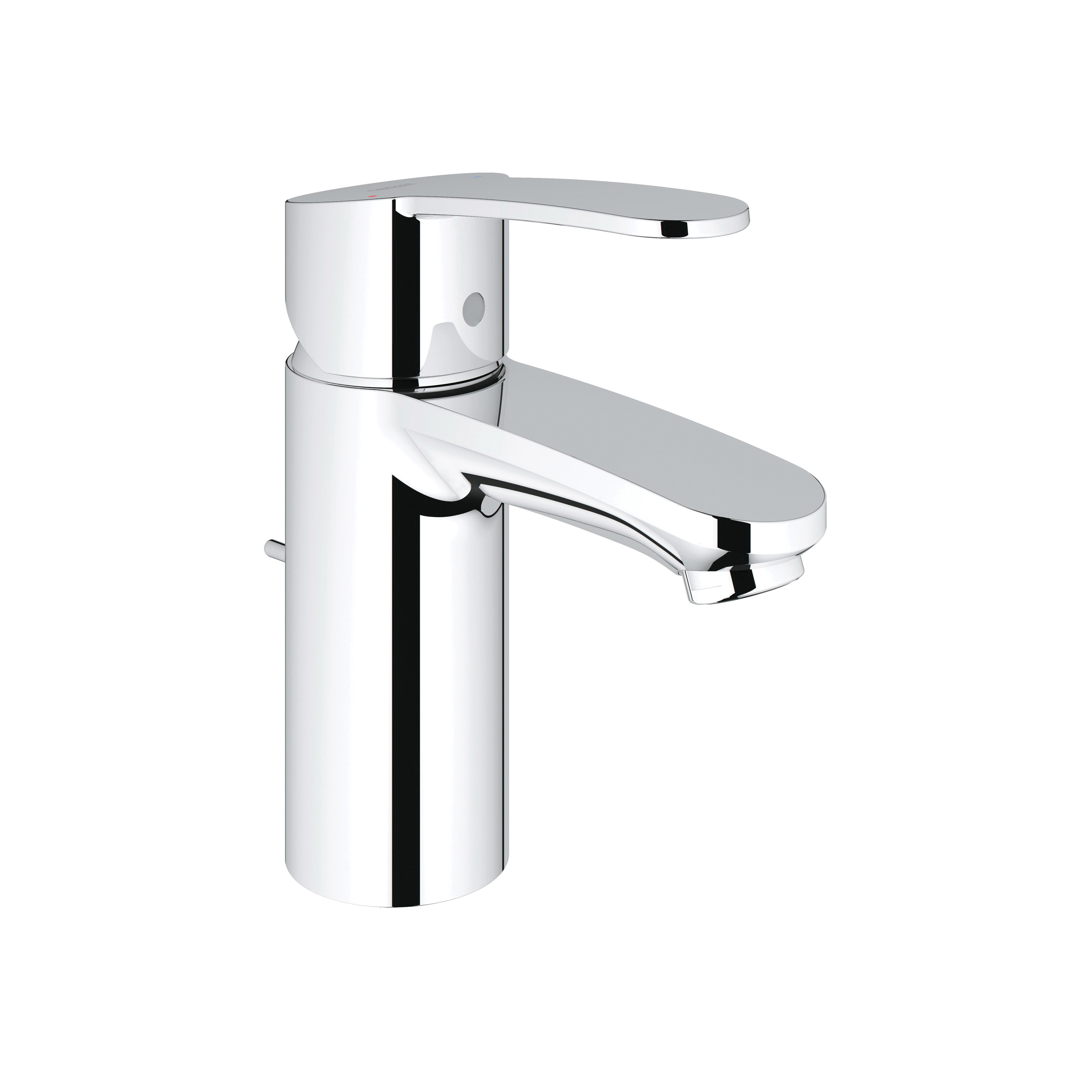 GROHE 2303600A Eurostyle™ Cosmopolitan Small Lavatory Faucet, 1.2 gpm, 3-5/16 in H Spout, 1 Handle, Pop-Up Drain, 1 Faucet Hole, StarLight® Chrome, Import