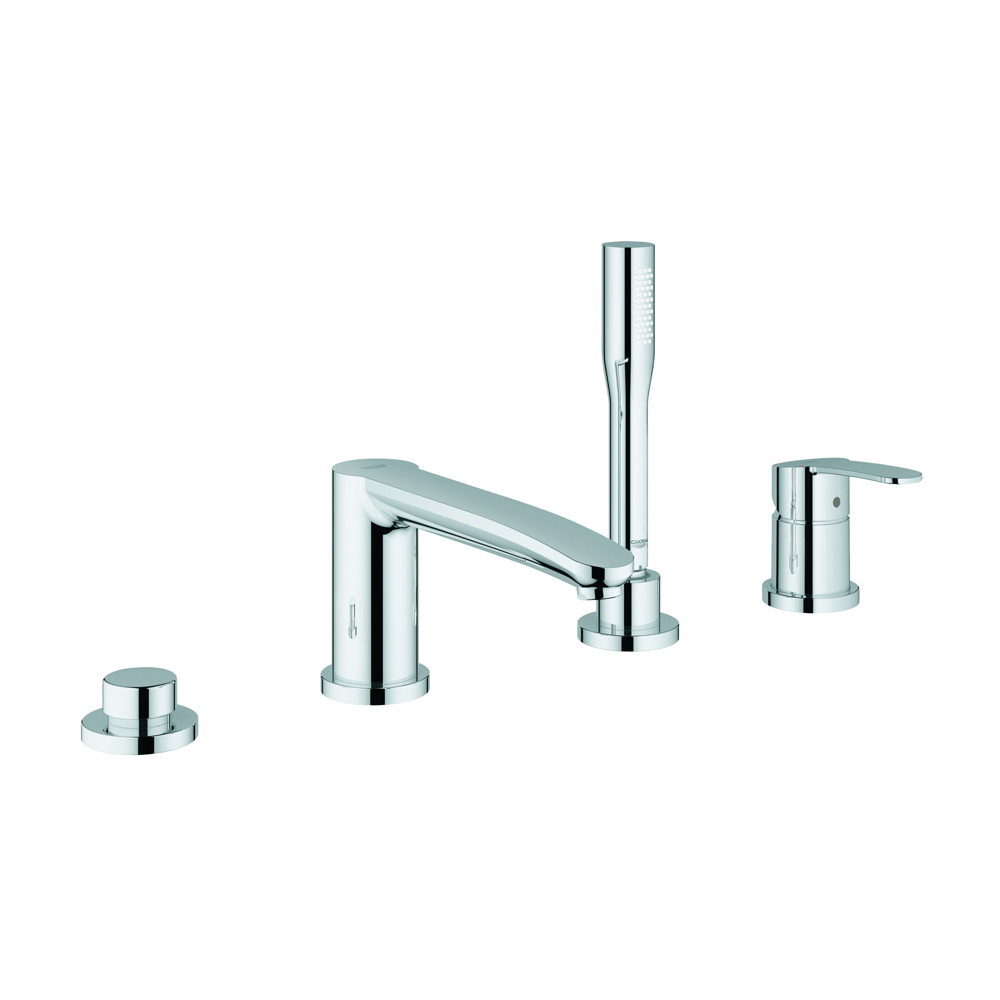 GROHE 23048002 Eurostyle™ Cosmopolitan Bath Combination, 8.1 gpm, StarLight® Chrome Plated, 1 Handles, Hand Shower Yes/No: Yes, Import