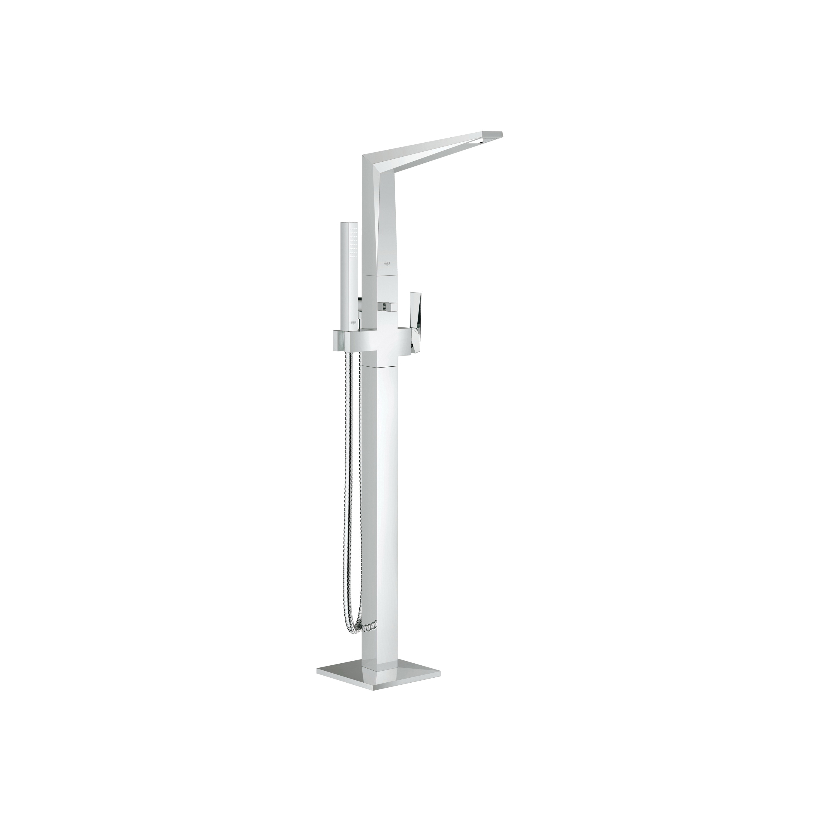 GROHE 23119000 Allure Tub Filler, 2 gpm, StarLight® Chrome Plated, 1 Handles, Hand Shower Yes/No: Yes, Import