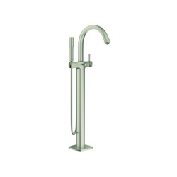 GROHE 23318EN0 Grandera™ Bath Mixer, 2 gpm, StarLight® Brushed Nickel, 1 Handles, Hand Shower Yes/No: Yes, Import