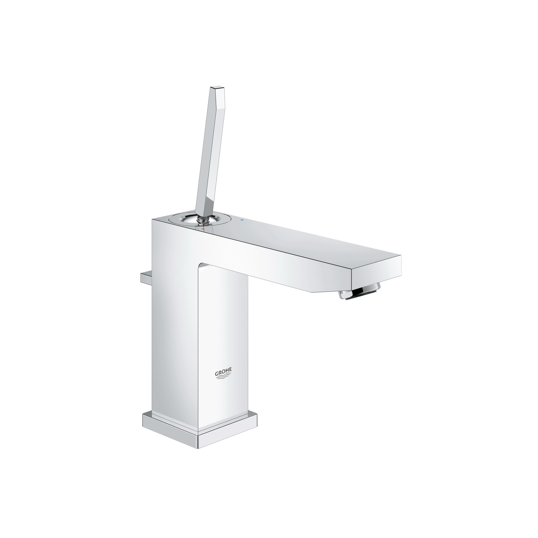 GROHE 23659000 Eurocube® Joy Medium Centerset Lavatory Faucet, 1.5 gpm, 4-5/16 in H Spout, 1 Handle, Pop-Up Drain, 1 Faucet Hole, StarLight® Chrome, Import