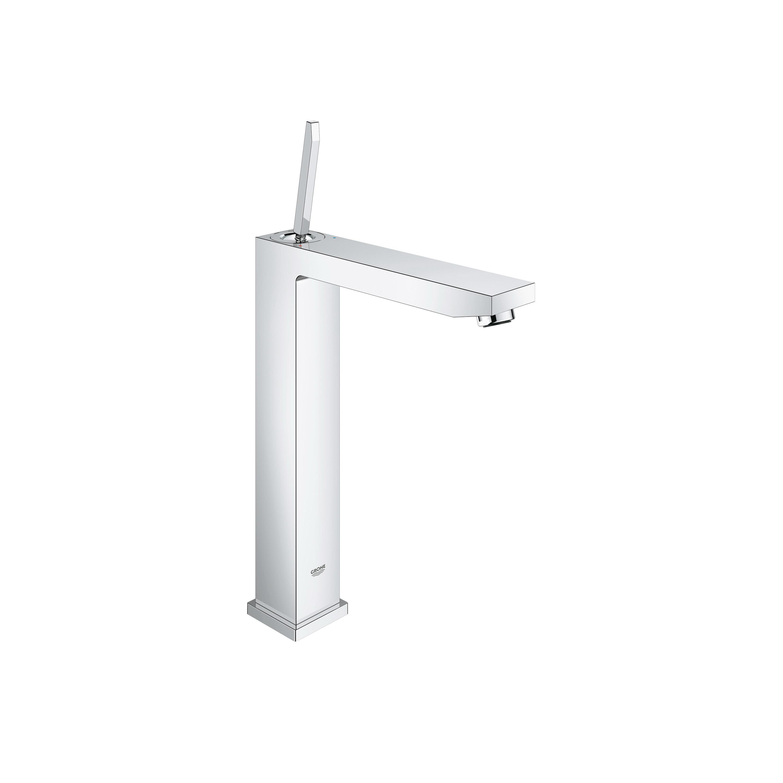 GROHE 23662000 Eurocube® Centerset Lavatory Faucet, 1.5 gpm, 9-13/16 in H Spout, 1 Handle, 1 Faucet Hole, StarLight® Chrome, Import