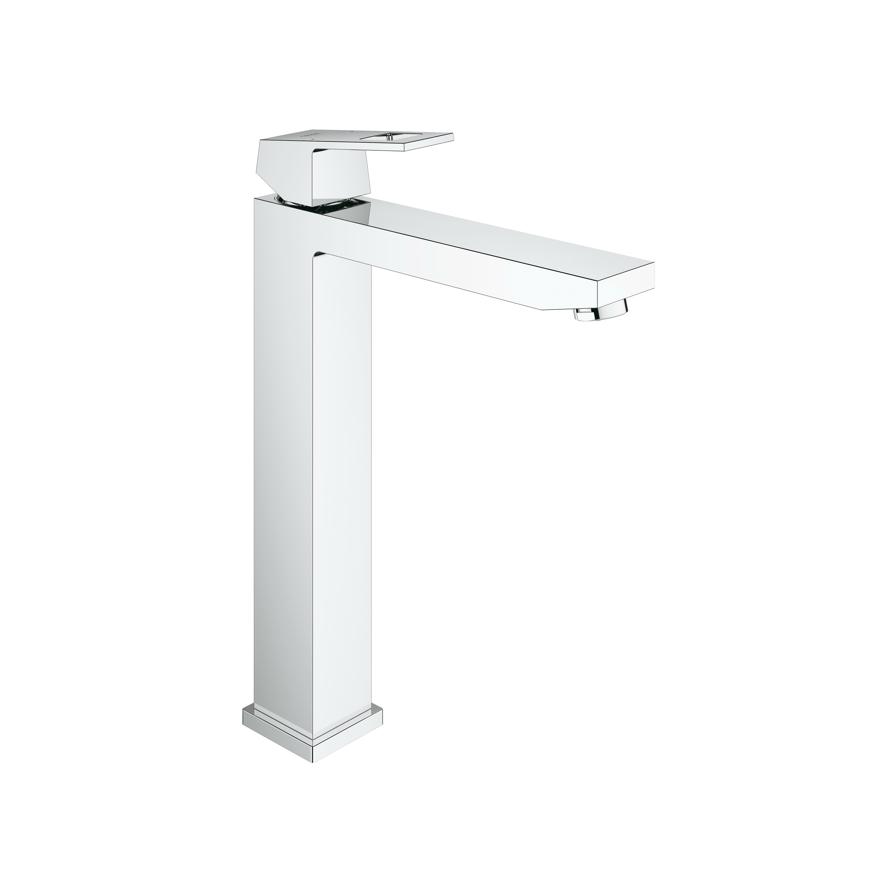 GROHE 23671000 Eurocube® Bathroom Basin Mixer With Temperature Limiter, 1.5 gpm, 9-13/16 in H Spout, 1 Handle, 1 Faucet Hole, StarLight® Chrome, Import