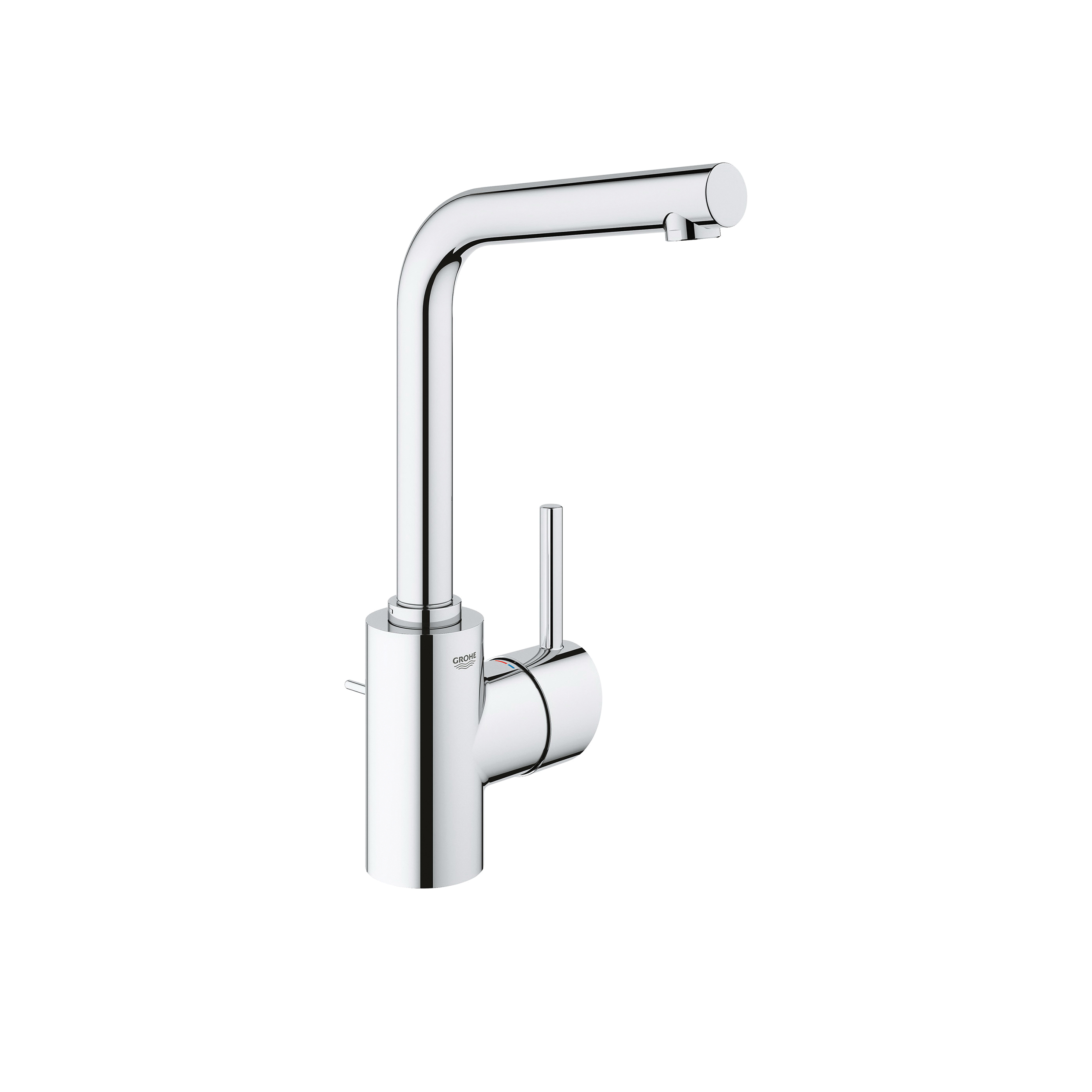 GROHE 23737001 Concetto Bathroom Faucet, 2.2 gpm, 10-3/8 in H Spout, 1 Handle, Pop-Up Drain, 1 Faucet Hole, StarLight® Chrome, Import