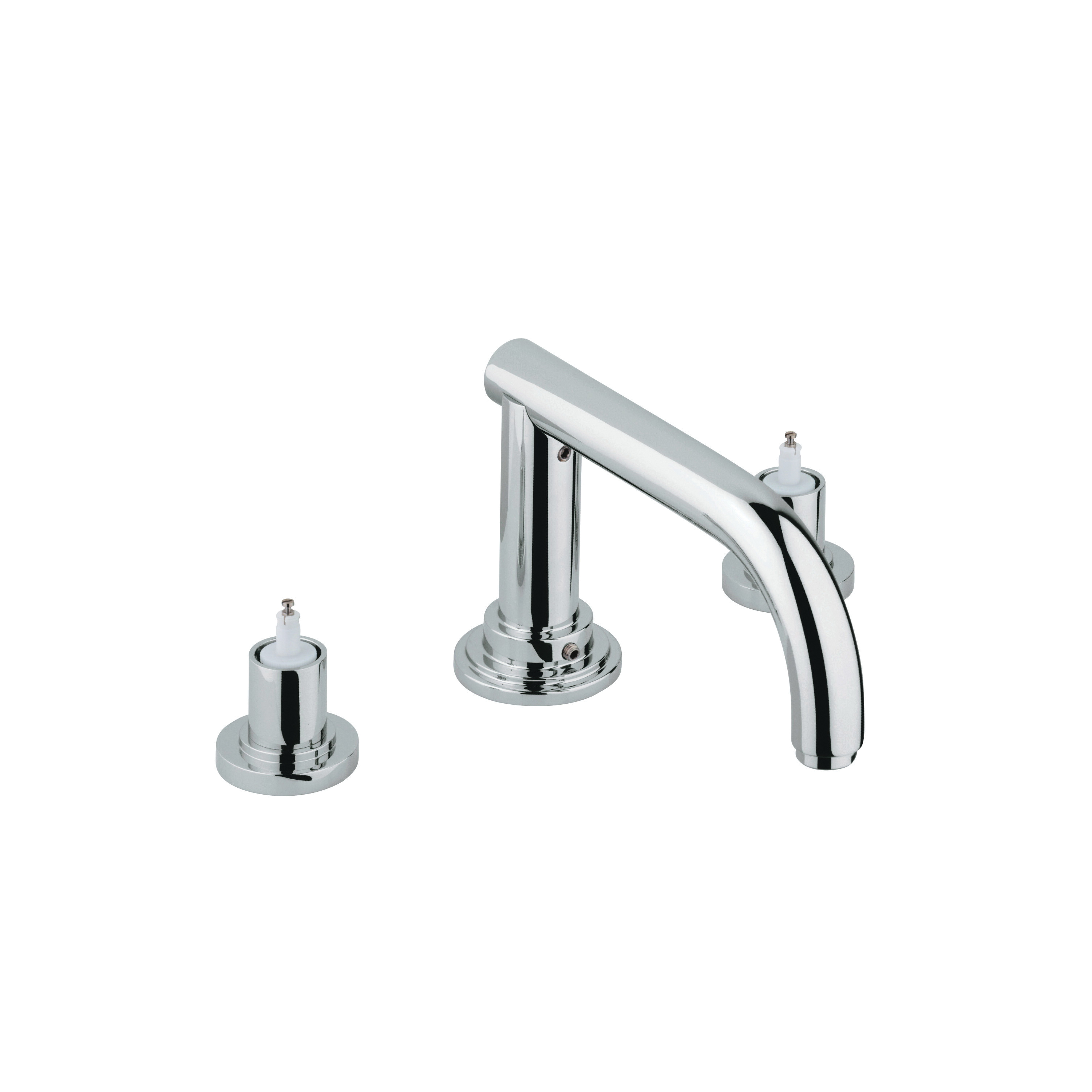 GROHE 25048EN0 Atrio® Roman Tub Filler, 12.6 gpm, StarLight® Brushed Nickel, Hand Shower Yes/No: No, Import