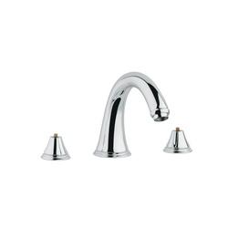GROHE 25054000 Geneva™ Roman Bathtub Faucet, 12.6 gpm, StarLight® Chrome Plated, Hand Shower Yes/No: No, Import