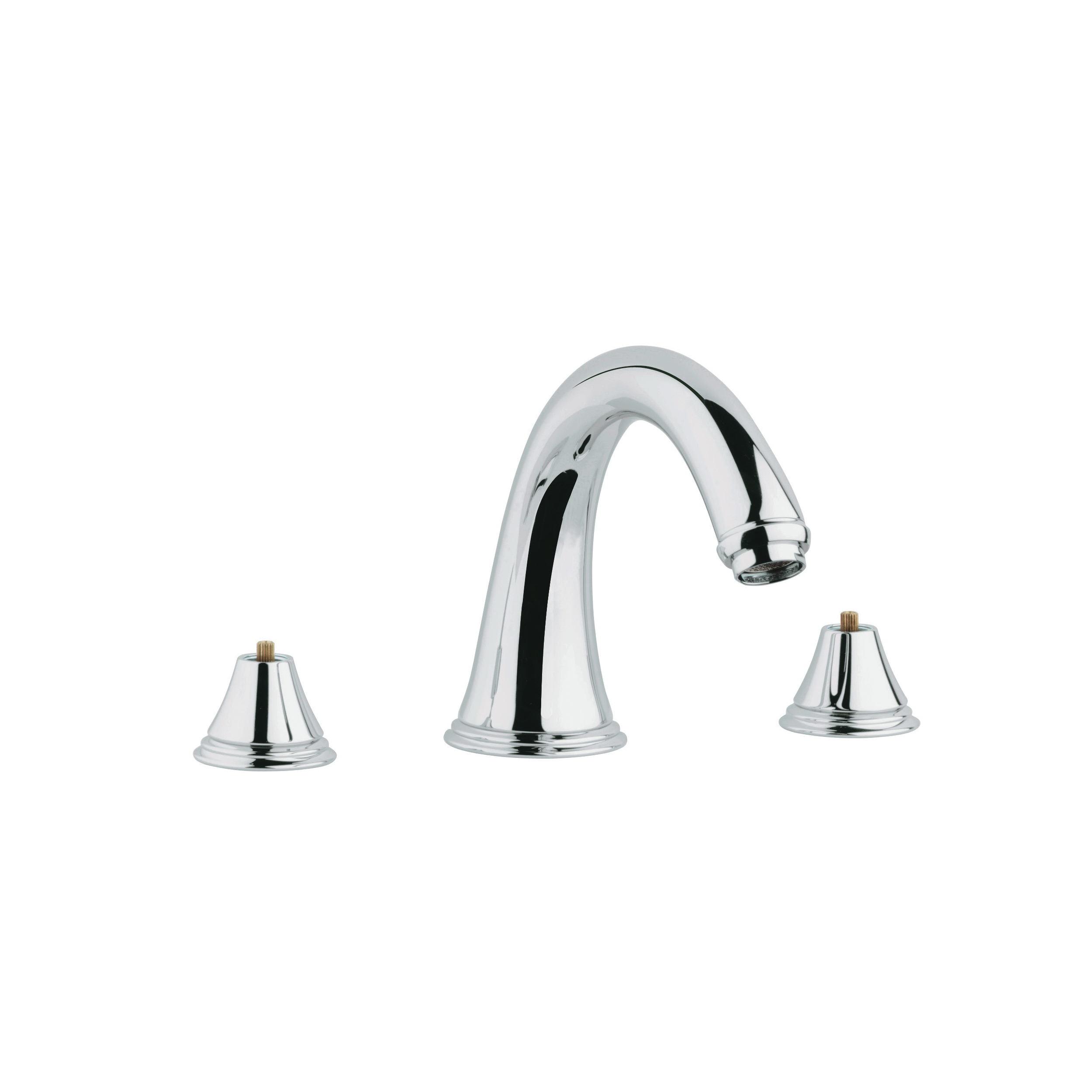 GROHE 25054000 Geneva™ Roman Bathtub Faucet, 12.6 gpm, StarLight® Chrome Plated, Hand Shower Yes/No: No, Import