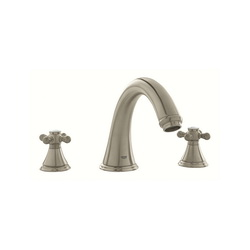 GROHE 25054EN0 Geneva™ Roman Bathtub Faucet, 12.6 gpm, StarLight® Brushed Nickel, Hand Shower Yes/No: No, Import