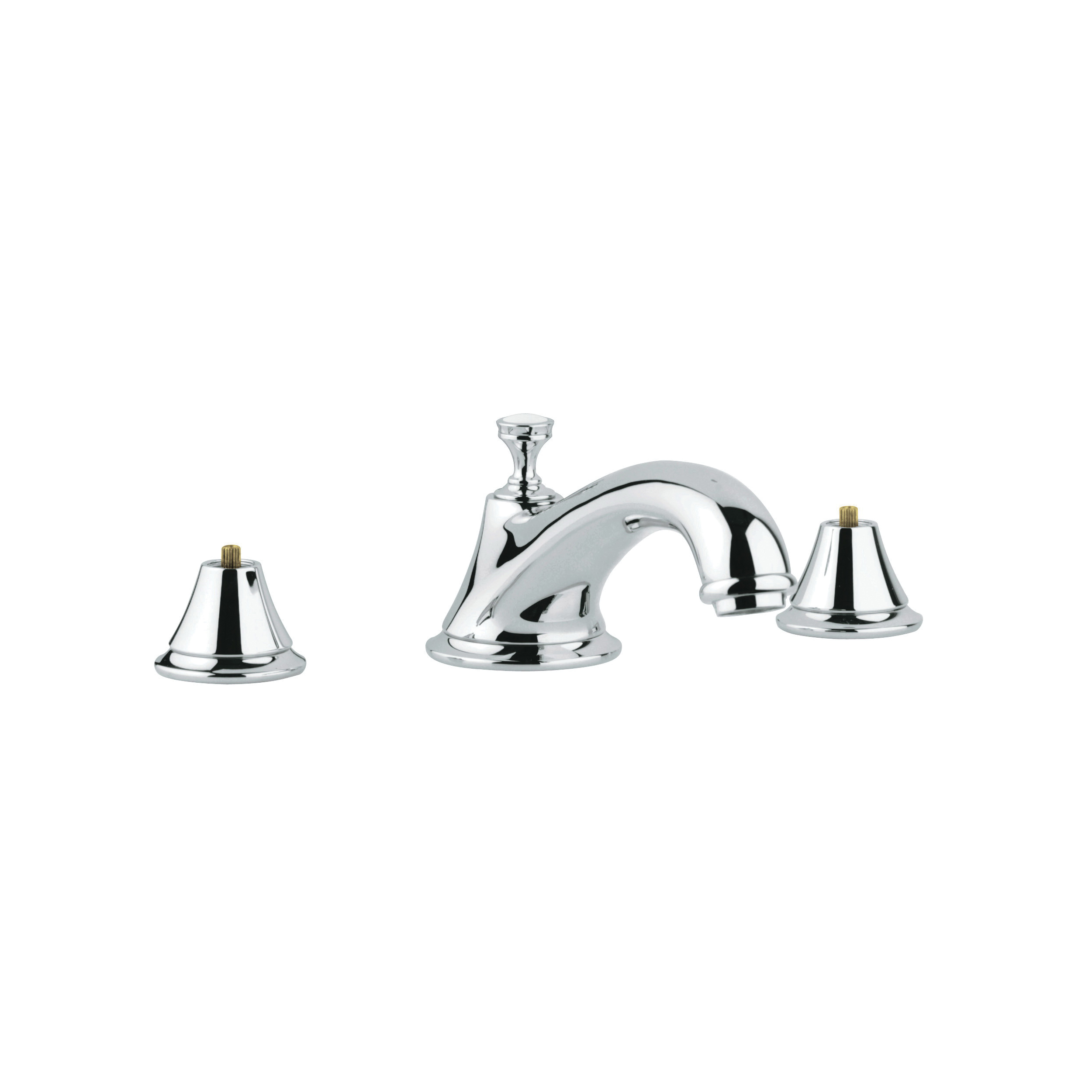 GROHE 25055000 Seabury™ Roman Bathtub Faucet, 12.6 gpm, StarLight® Chrome Plated, Hand Shower Yes/No: No, Import