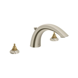 GROHE 25071EN0 Arden Roman Tub Filler, 12.6 gpm, StarLight® Brushed Nickel, Hand Shower Yes/No: No, Import
