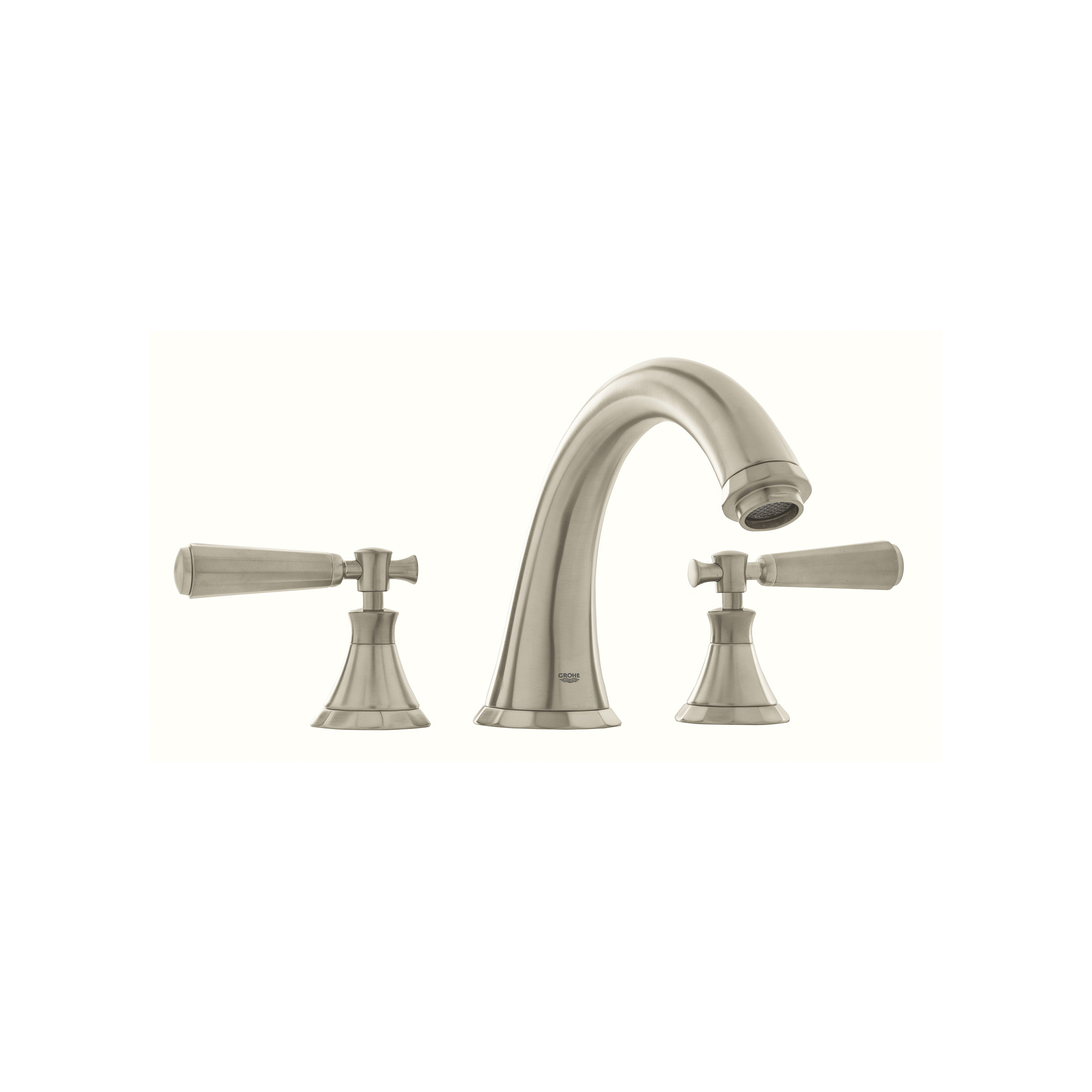 GROHE 25074EN0 Kensington® Roman Tub Filler, 13.2 gpm, StarLight® Brushed Nickel, 2 Handles, Hand Shower Yes/No: No, Import