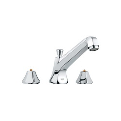 GROHE 25076000 Somerset™ Roman Tub Filler, 13.2 gpm, StarLight® Chrome Plated, Hand Shower Yes/No: Yes, Import