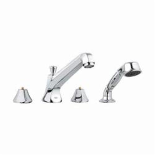 GROHE 25077000 Somerset™ Bath Combination, 13.2 gpm, Chrome Plated, Hand Shower Yes/No: Yes, Import