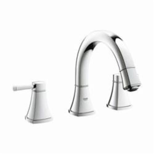 GROHE 25154000 Grandera™ Roman Bathtub Faucet, 5.8 gpm, StarLight® Chrome Plated, 2 Handles, Hand Shower Yes/No: No, Import