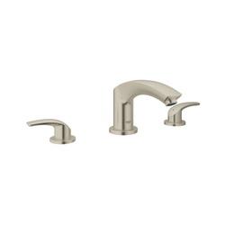GROHE 25168EN2 Eurosmart® Roman Bathtub Faucet, 6.3 gpm, StarLight® Brushed Nickel, 2 Handles, Hand Shower Yes/No: No, Import