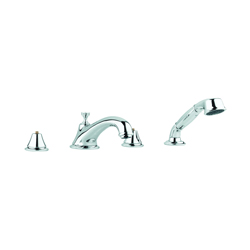 GROHE 25502000 Seabury™ Roman Bathtub Faucet, 13.2 gpm, StarLight® Chrome Plated, Hand Shower Yes/No: Yes, Import