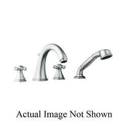 GROHE 25506EN0 Geneva™ Roman Bathtub Faucet, 13.2 gpm, Brushed Nickel, Hand Shower Yes/No: Yes, Import