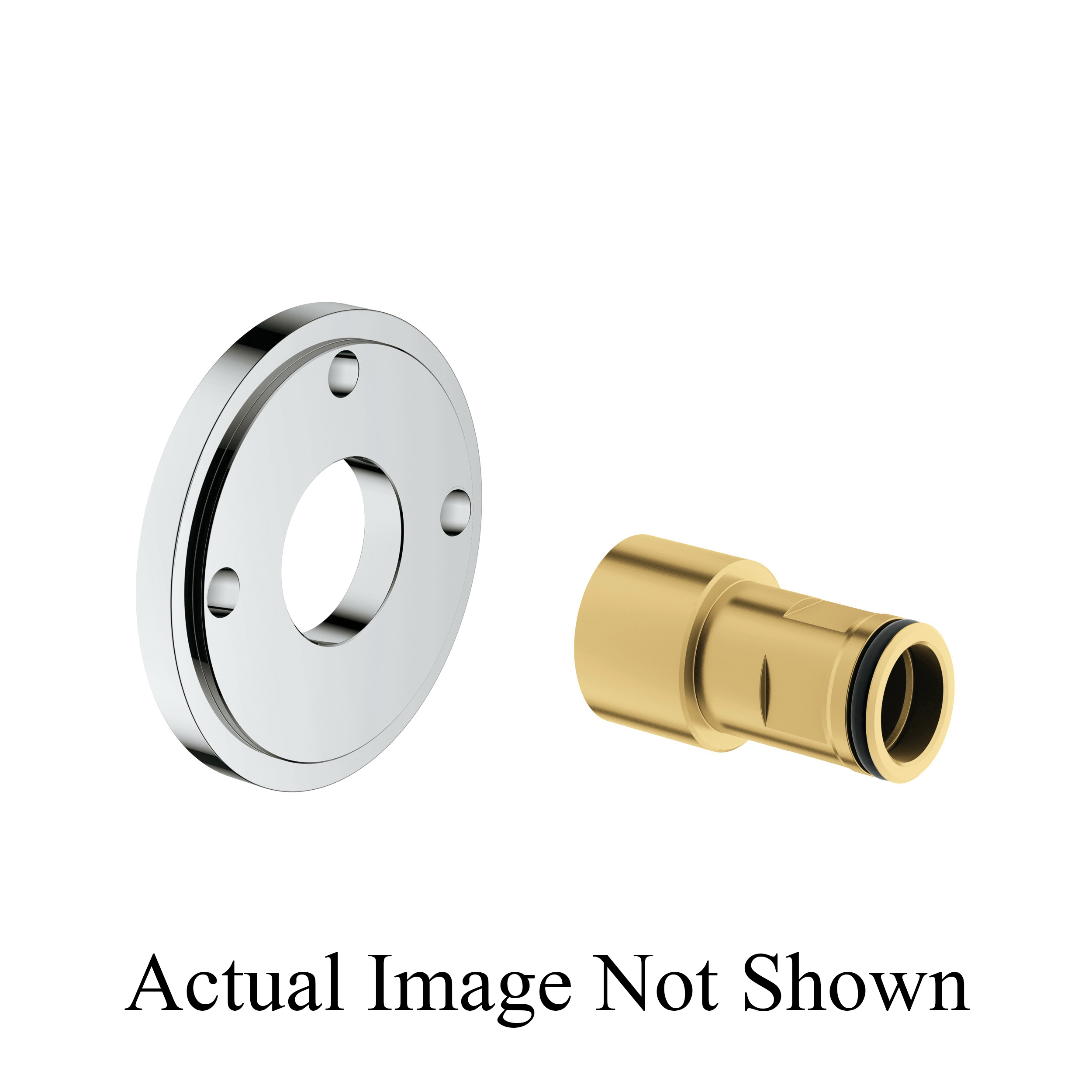 GROHE 26030000 Spacer, For Use With Retro-Fit Shower System, StarLight® Chrome, Import