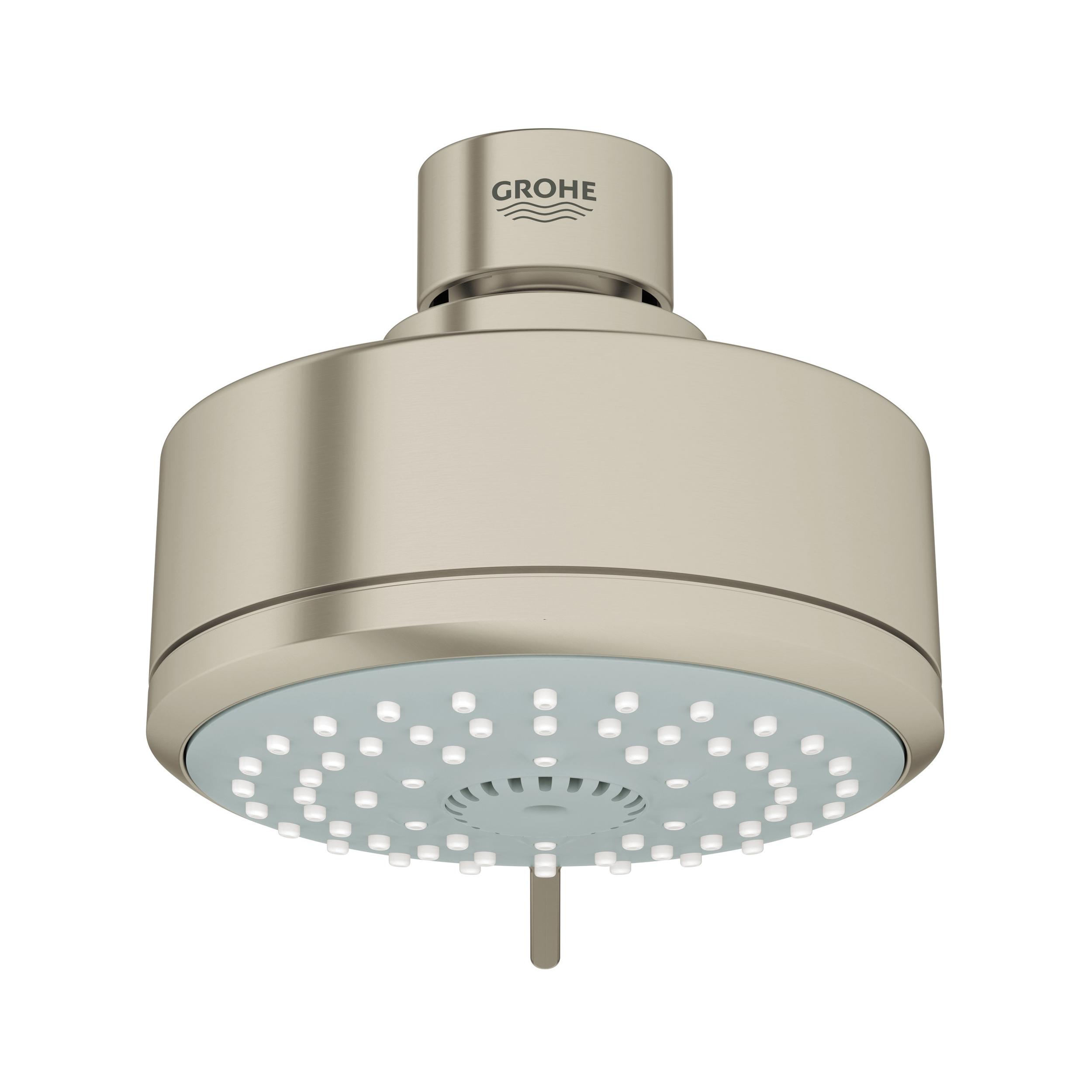 GROHE 26043EN0 New Tempesta® Cosmopolitan 100 Shower Head, 2 gpm, 4 Sprays, Wall Mount, 3.93 in Head, Import