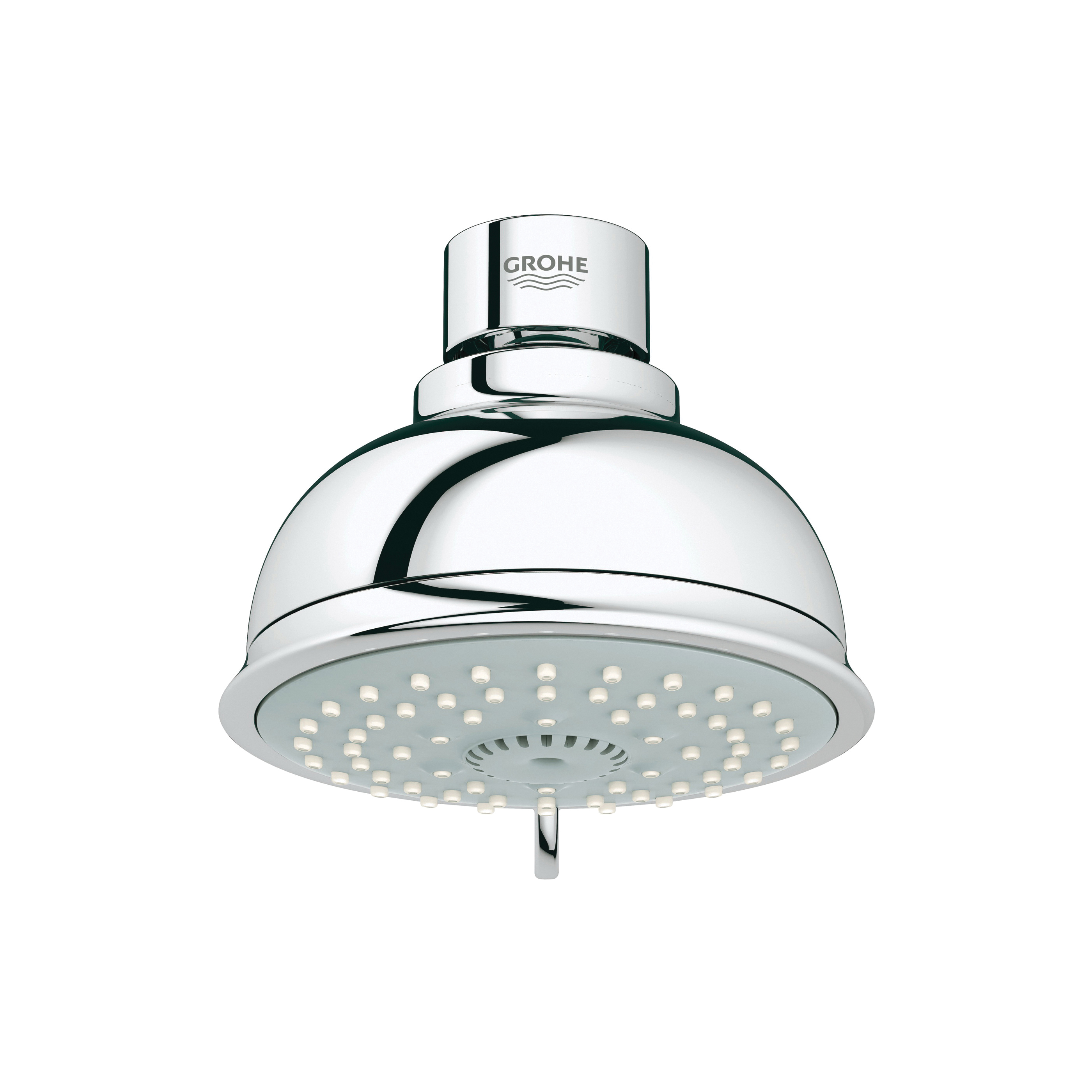 GROHE 26045000 New Tempesta® Rustic 100 Shower Head, 2 gpm, 4 Sprays, Wall Mount, 3.93 in Head, Import