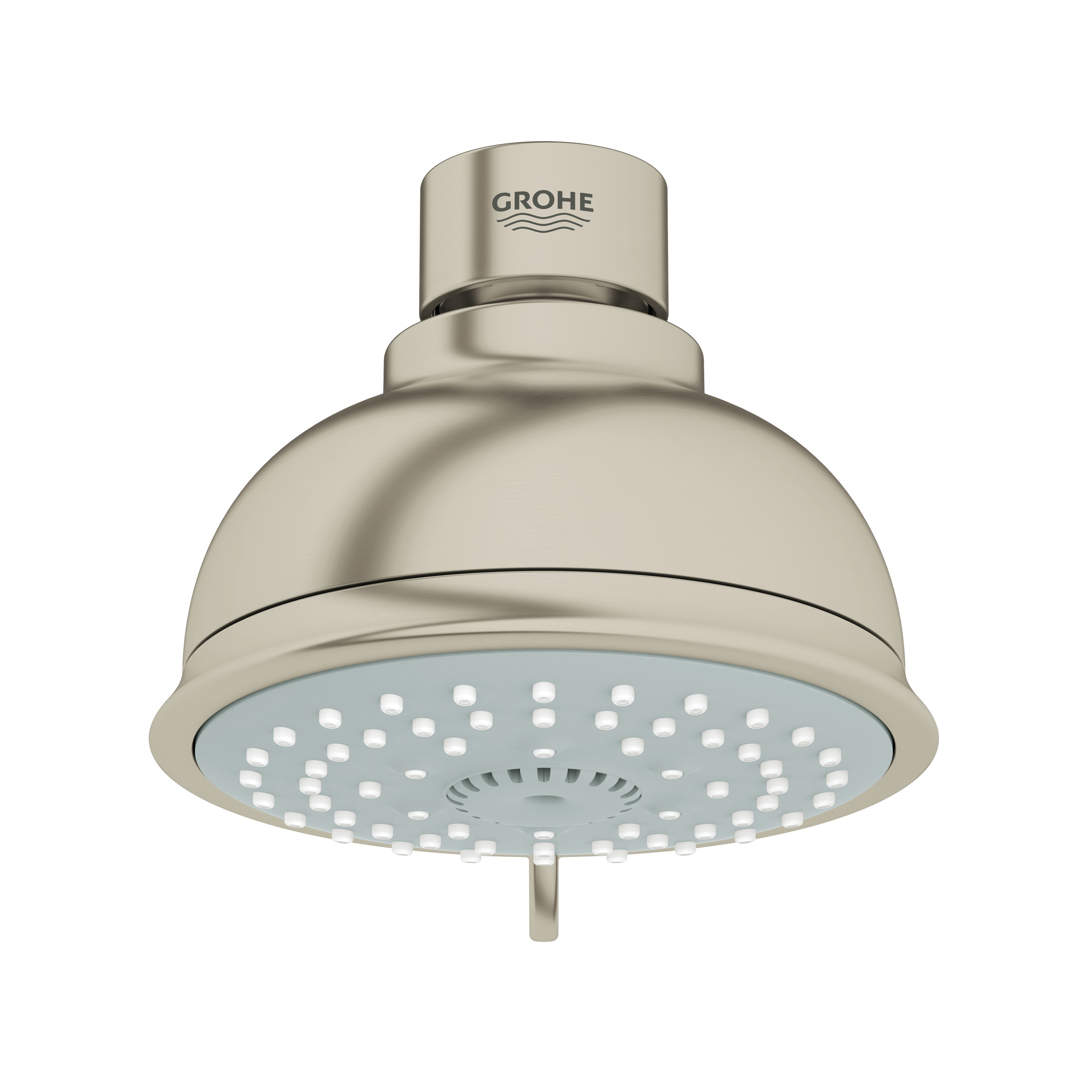 GROHE 26045EN0 New Tempesta® Rustic 100 Shower Head, 2 gpm, 4 Sprays, Wall Mount, 3.93 in Head, Import