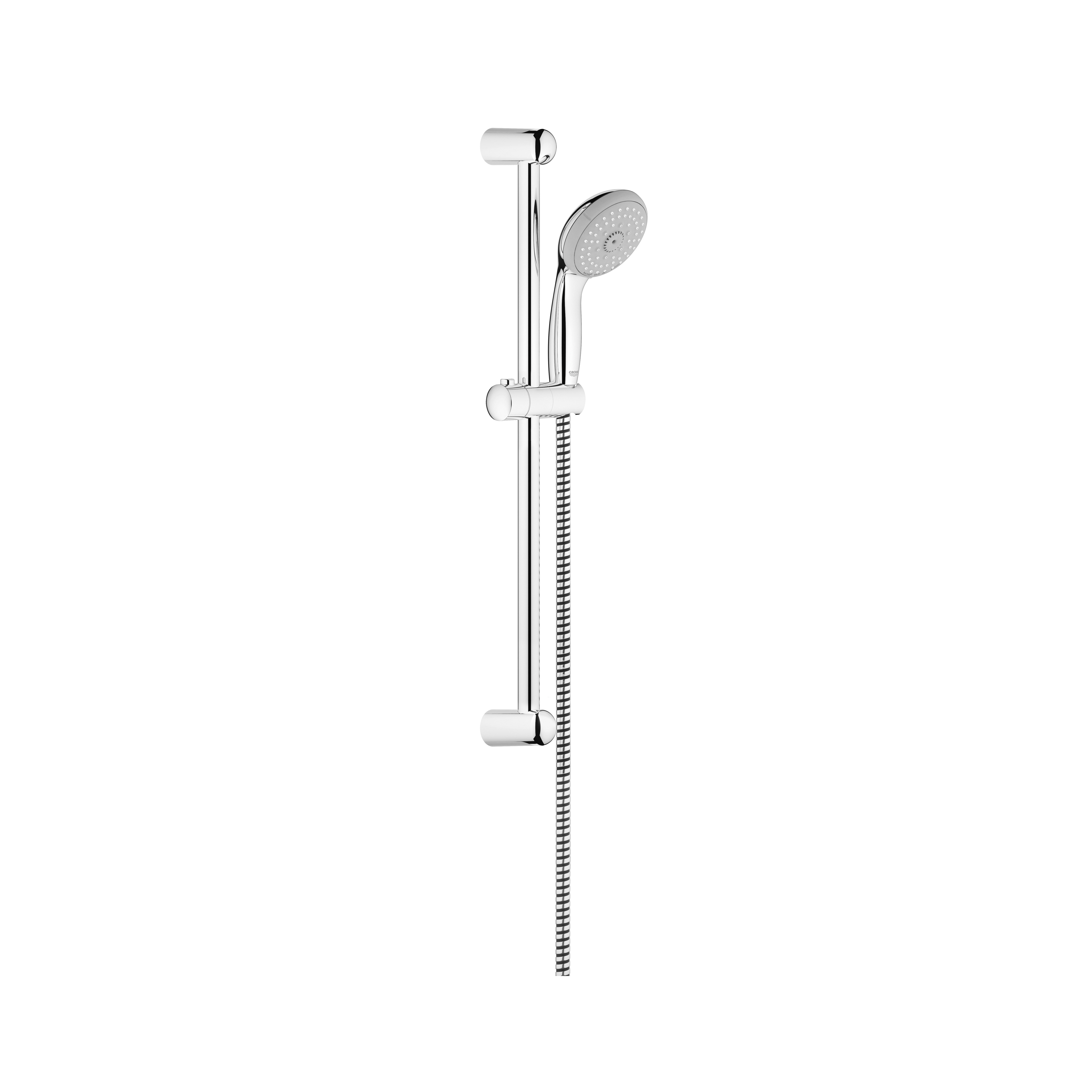 GROHE 26077000 New Tempesta® 100 Shower Rail Set, 3-15/16 in Dia Head, 2 gpm, 69 in L Hose, G-1/2, Chrome Plated, Import
