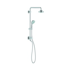 GROHE 26122000 Euphoria Rustic Retro-Fit Shower System With Ball Joint, 2.5 gpm, Full Spray, StarLight® Chrome Plated, Import