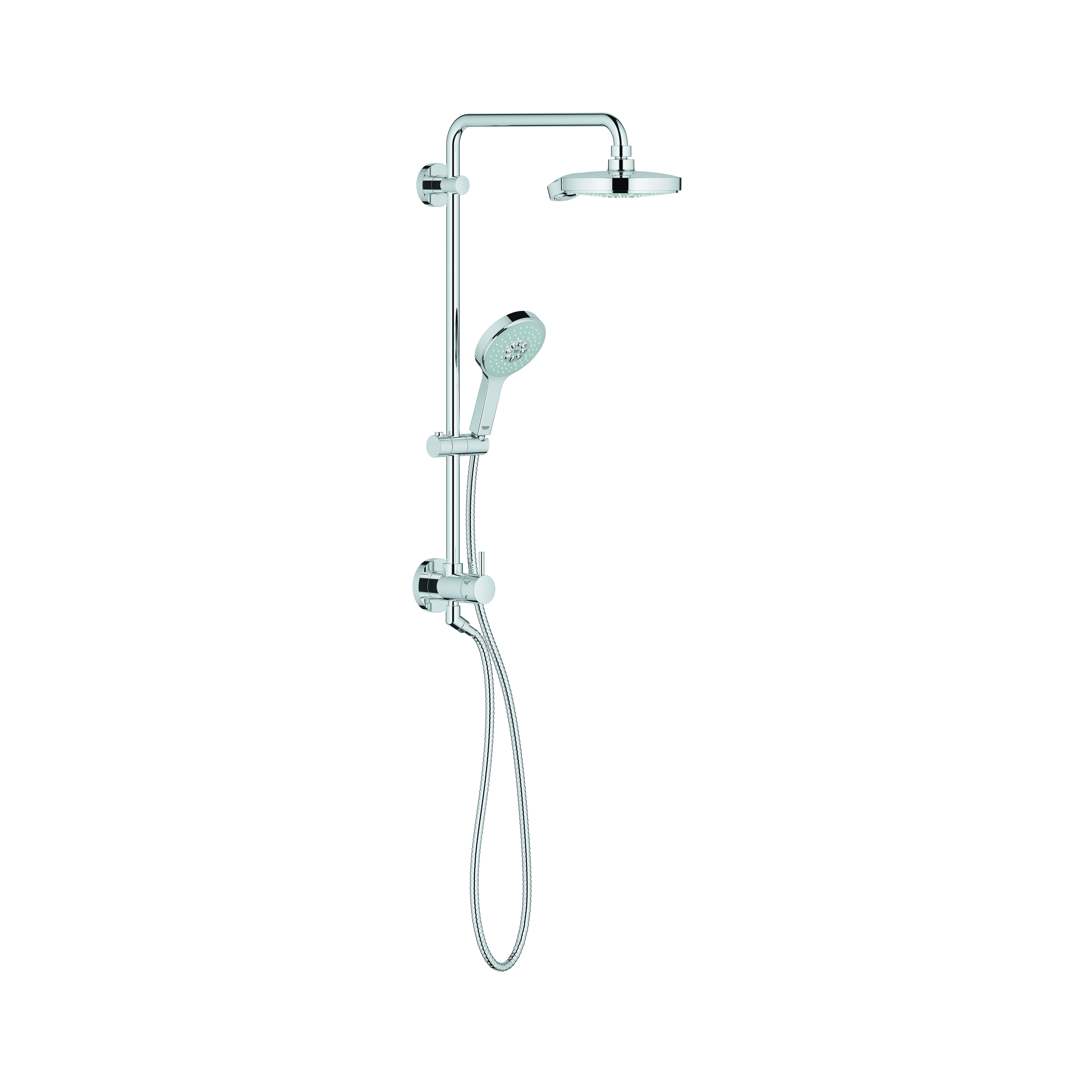 GROHE 26127000 Power&Soul® Cosmopolitan Retro-Fit Shower System With Ball Joint, 2.5 gpm, StarLight® Chrome Plated, Import