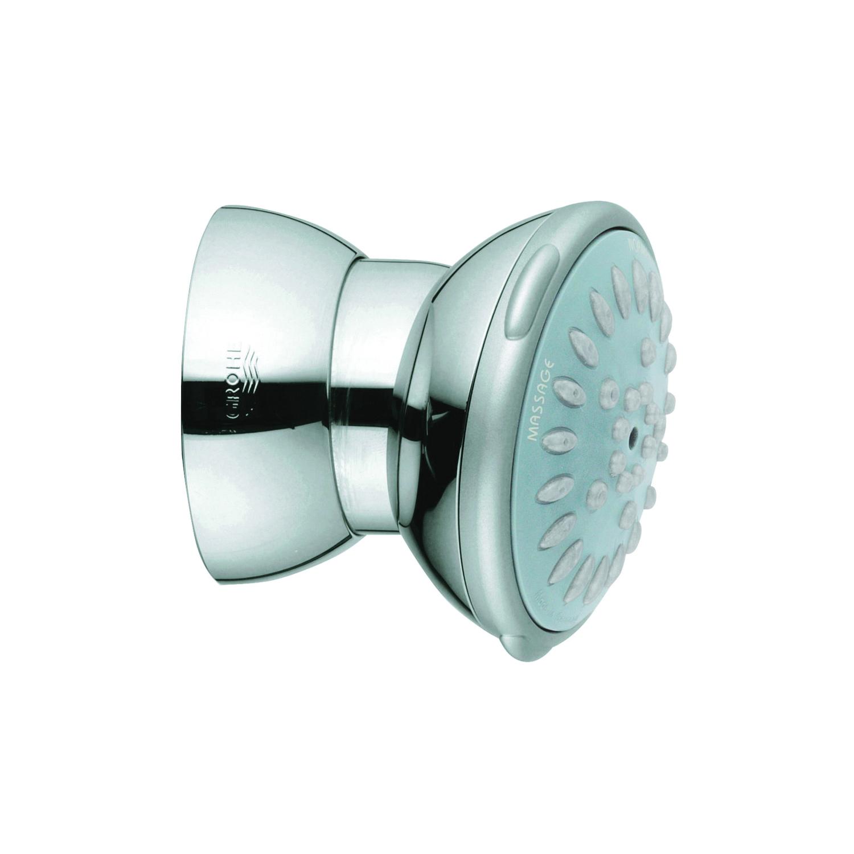 GROHE 27070000 Ondus® Relexa 65 Side Shower, (2) Normal/Massage Spray, 2.5 gpm Maximum, Round Head, Wall Mount, Import