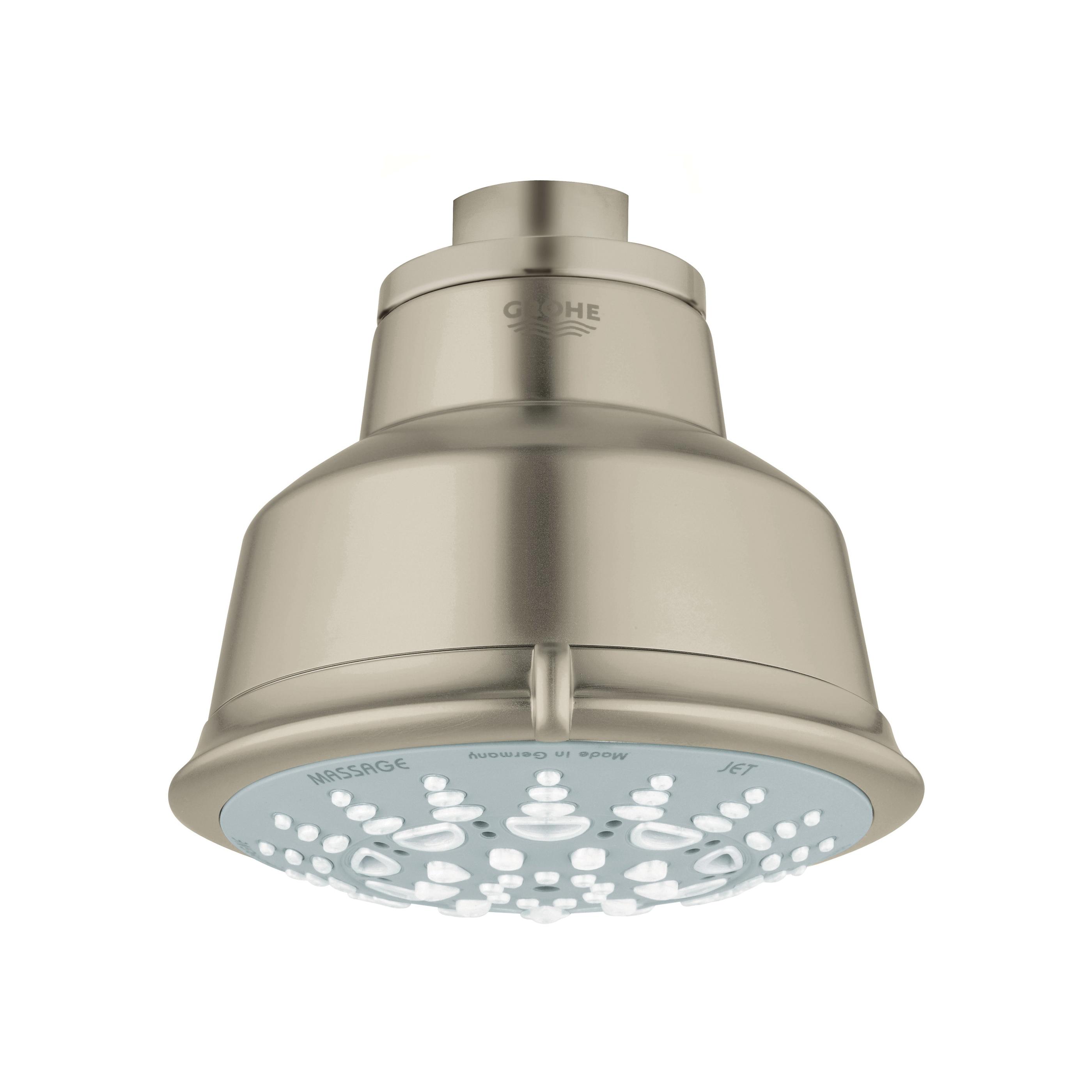 GROHE 27126EN1 Relexa Rustic 100 Shower Head, 2.5 gpm, 5 Sprays, Wall Mount, 4.06 in Head, Import