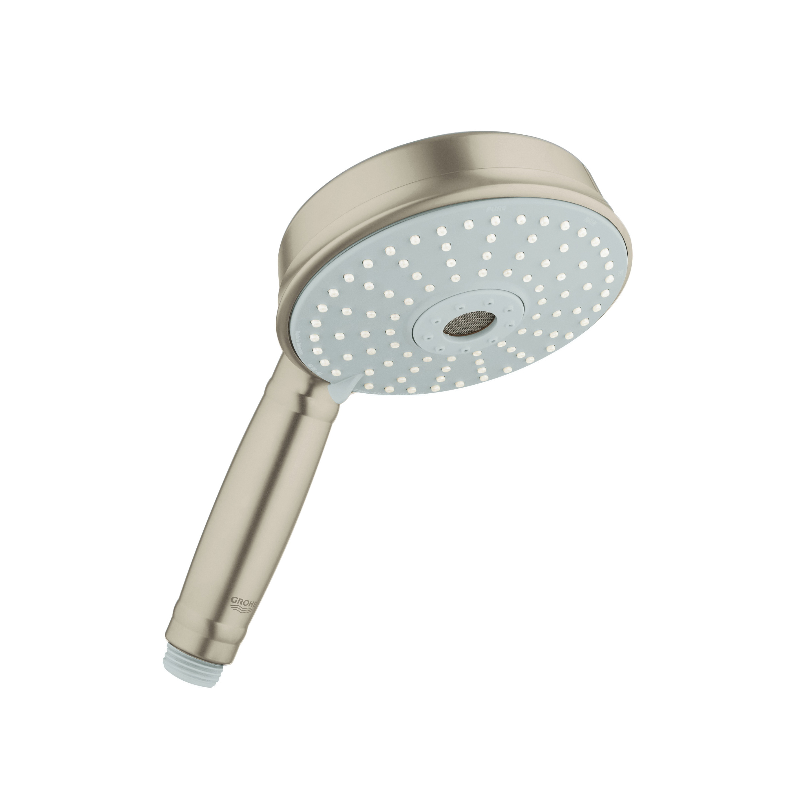 GROHE 27129EN0 Rainshower® Rustic 130 Shower Head, 2.5 gpm, 3 Sprays, Import