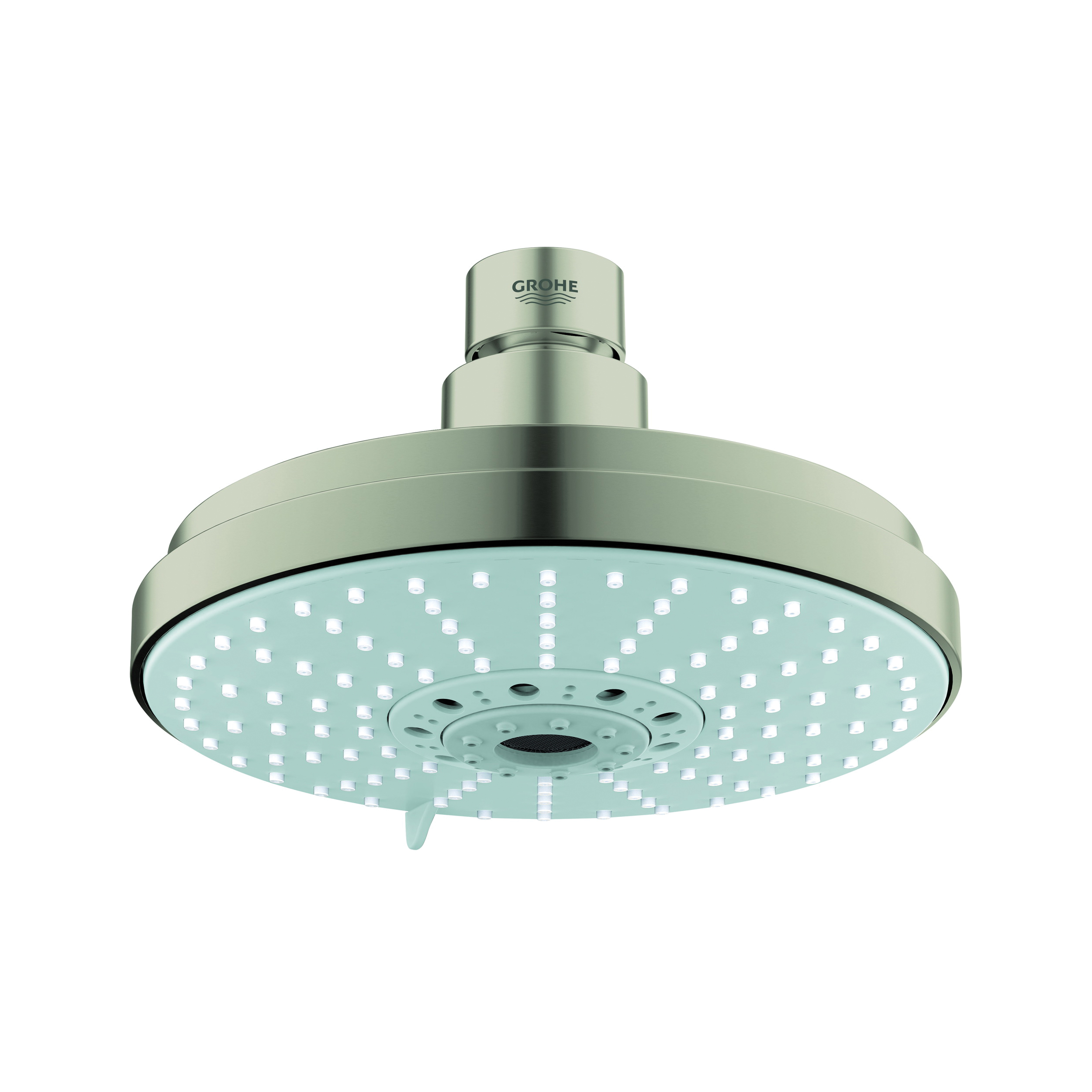 GROHE 27135EN0 Rainshower® Cosmopolitan 160 Shower Head, 2.5 gpm, 4 Sprays, Ceiling Mount, 6-5/16 in Dia Head, Import