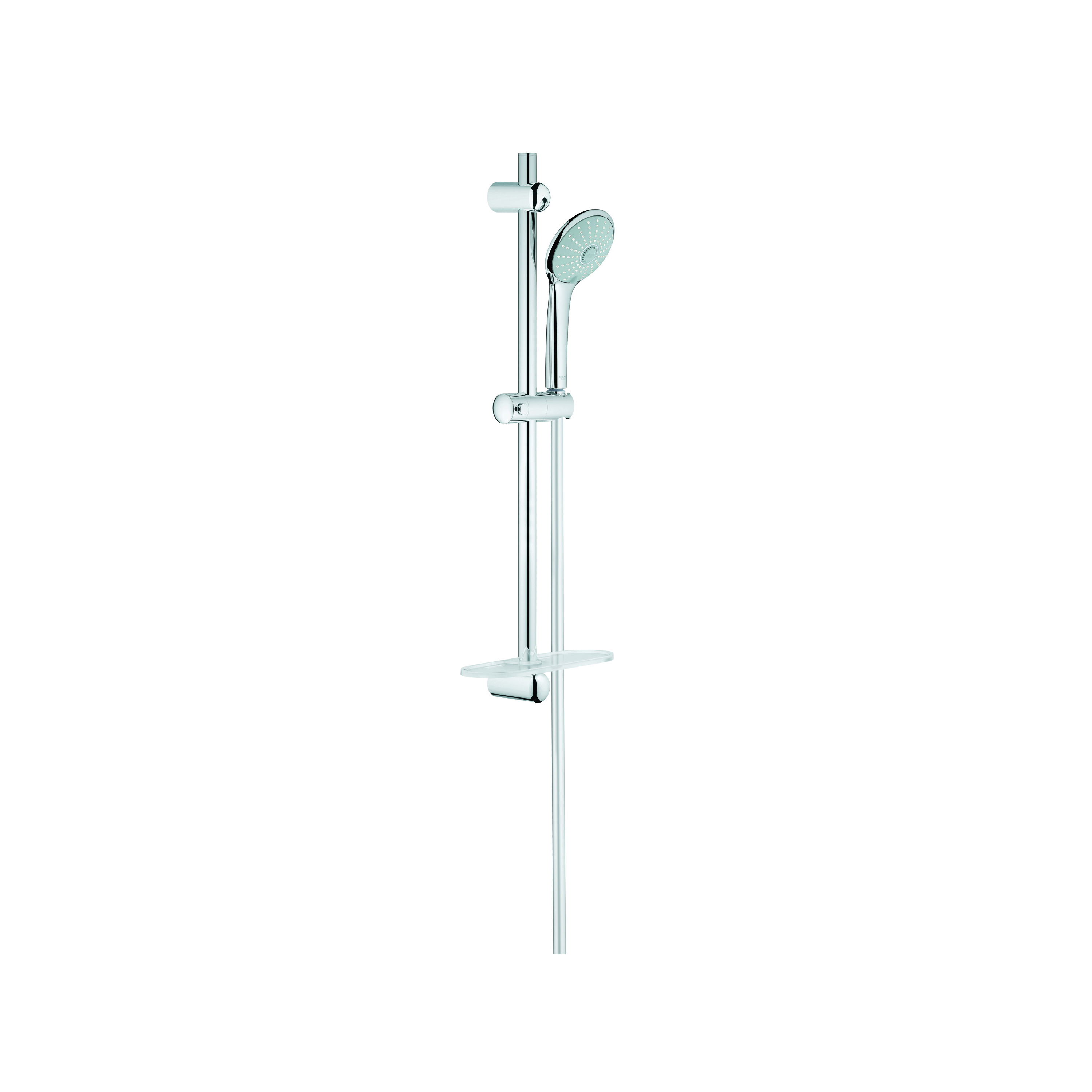 GROHE 27243001 Euphoria 110 Massage Shower Set, 4-1/2 in Dia, 2.5 gpm, 69 in L Hose, G-1/2, Slide Bar: Yes, Chrome Plated, Import