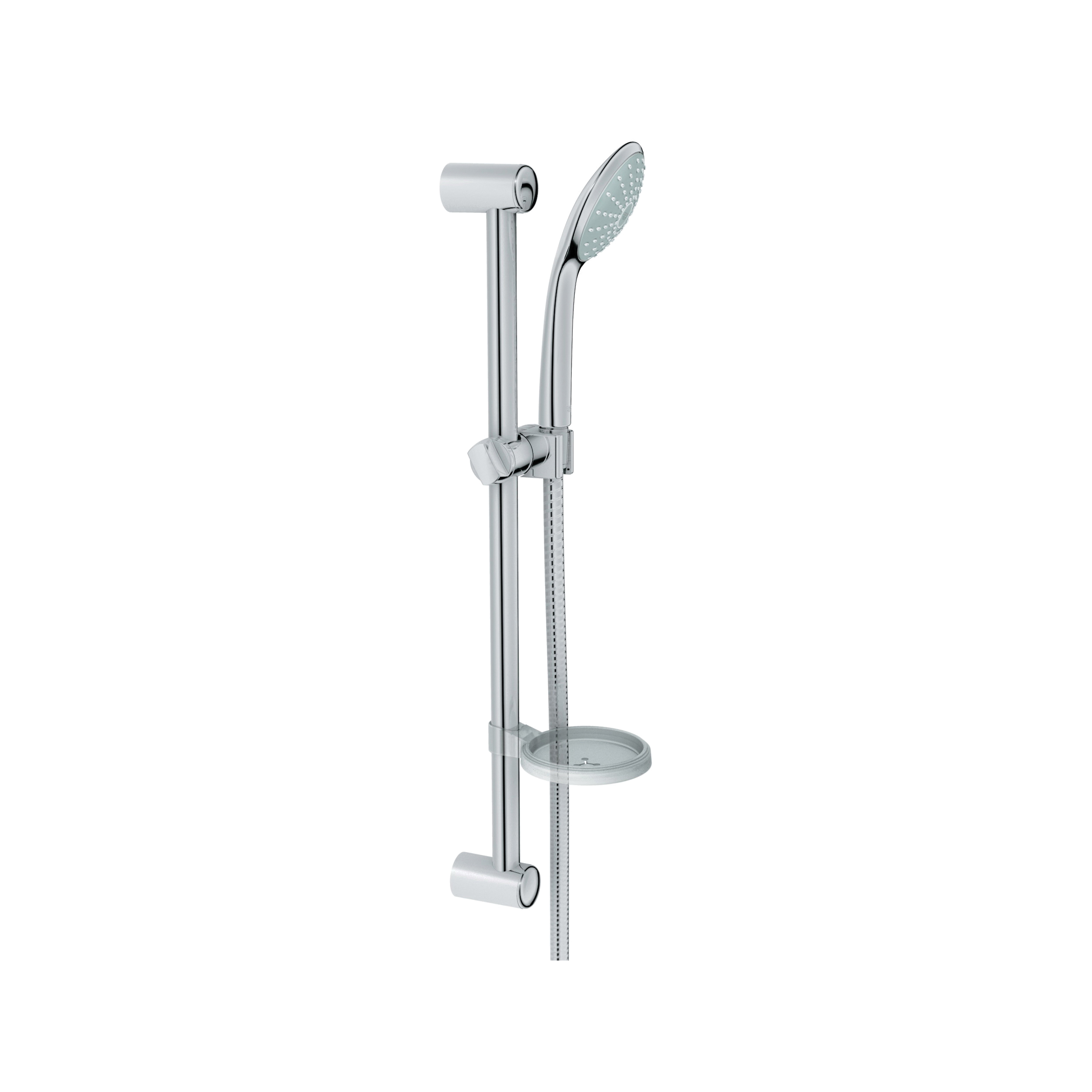 GROHE 2726600E Euphoria 110 Mono Shower Set, 4-5/16 in Dia, 1.5 gpm, 69 in L Hose, G-1/2, Slide Bar: Yes, Chrome Plated, Import