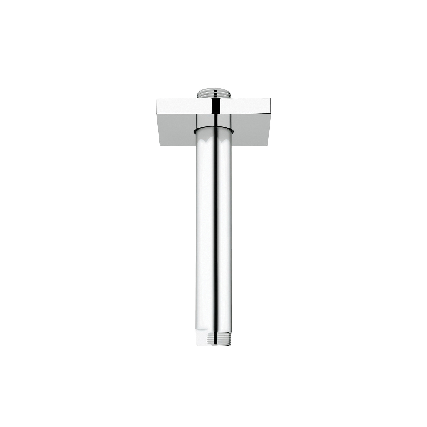 GROHE 27486000 Rainshower® Ceiling Shower Arm With Square Flange, 6 in L, 1/2 in NPT, Import